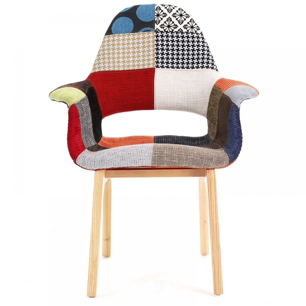Eames organic patchwork chair for Chaise eams patchwork