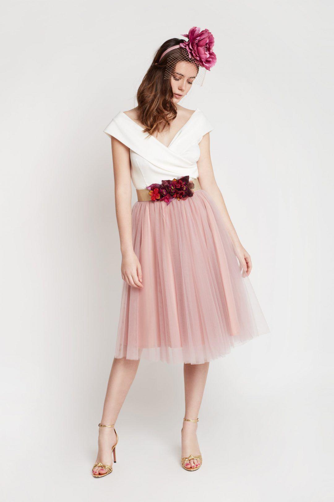 Falda de tul midi rosa | Faldas tul, Vestidos invitada boda y Tul