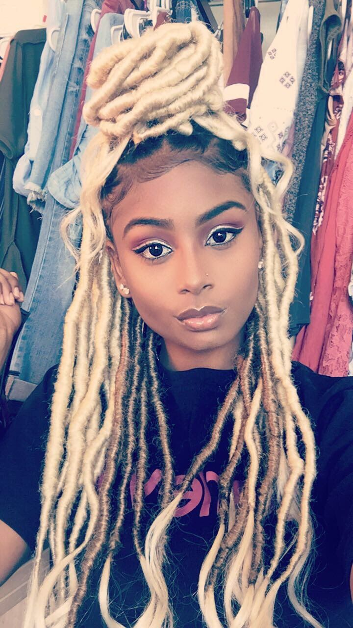 B A R B I E Doll Gang Hoe Pinterest Jussthatbitxh Download The App Mercari Use My Code Uznpku To Sign Up You Ca Blonde Faux Locs Faux Locs Hair Styles