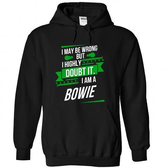 BOWIE-the-awesome - #food gift #easy gift. PURCHASE NOW => https://www.sunfrog.com/LifeStyle/BOWIE-the-awesome-Black-75291950-Hoodie.html?68278