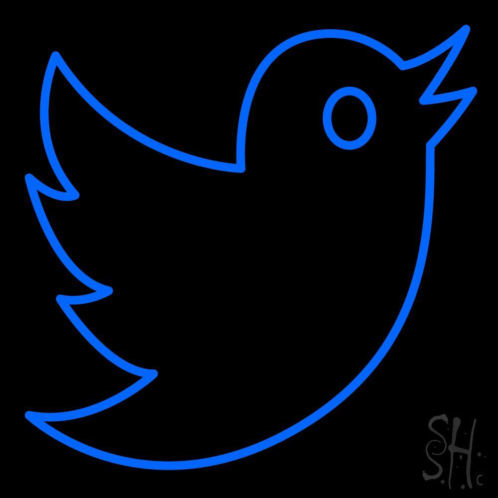 Twitter Bird Logo Neon Sign | Animals Neon Signs | Neon ...