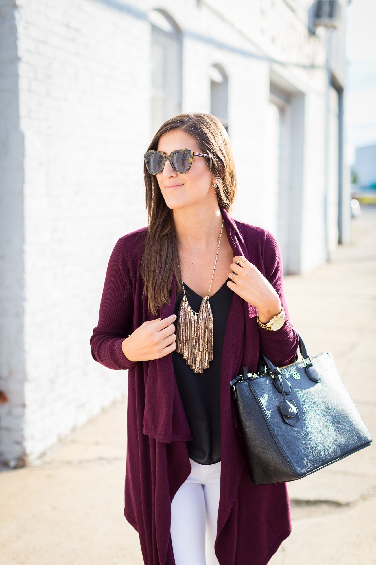 Open Front Cardigan | Tassels, Fall styles and Fall sweaters