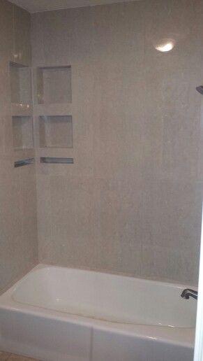 16 X 32 Porcelain Tile Tub Surround Tile Tub Surround Tub Surround Bathrooms Remodel
