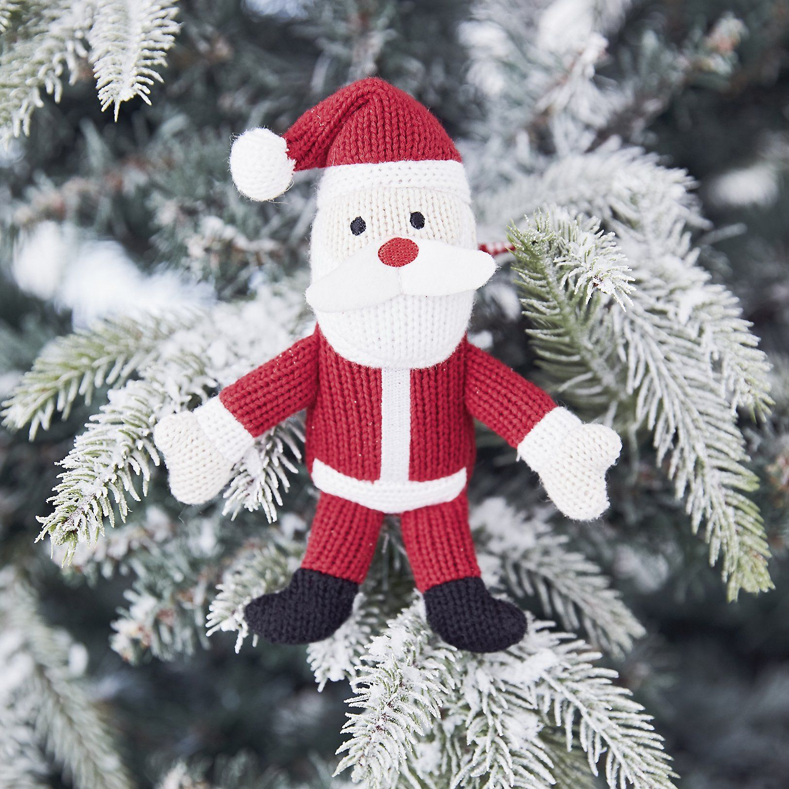 Knitted Father Christmas Decoration - The White Company Uk