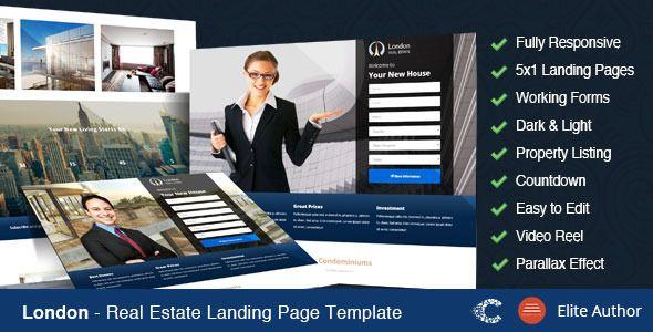 London Real Estate Landing Page London Real Estate And Template - Real estate landing page template free