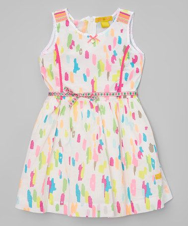 Another great find on #zulily! Pink & Yellow Paint Smudge Dress - Infant, Toddler & Girls #zulilyfinds