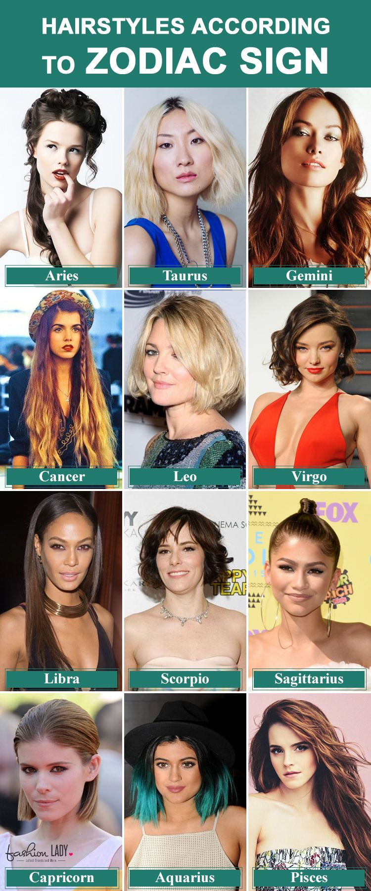 sun sign hairstyles: style your hair according to zodiac sign rules