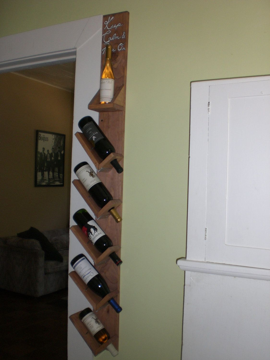 Hanging Bottle Rack Wood Wall Hanging Wine Rack Made Of Wood Wall Hanging