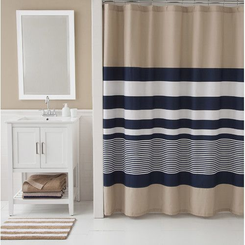 Lorilee Stripe Single Shower Curtain Striped Shower Curtains