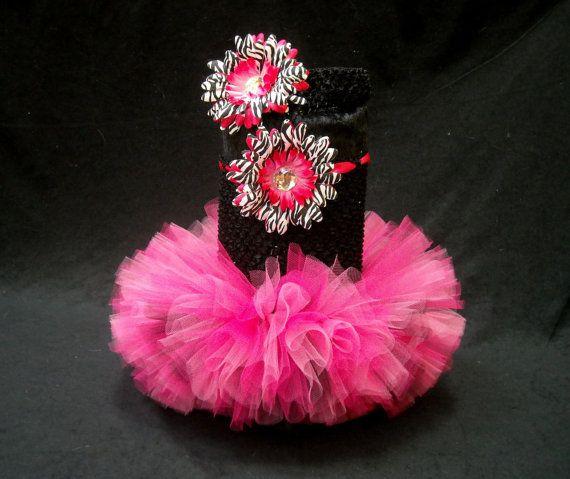 Pink Zebra Baby Tutu by LittleTutuShop on Etsy, $24.00