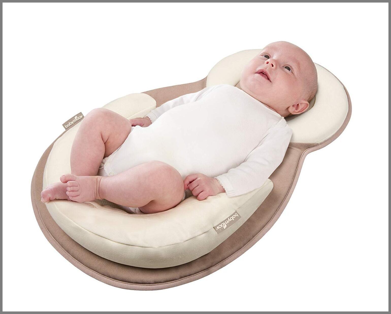 Beige Baby Bed Mattress Newborn Sleep Positioner Infant Body Support Crib Bumper Nursing Pillow Anti Roll Sleeping Cushion