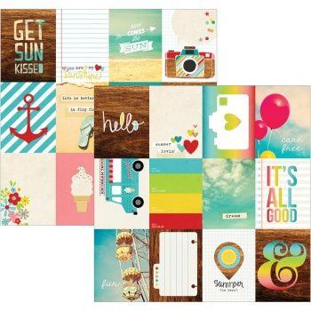"""Good Day Sunshine - 3 """"X4"""" journalisation Cartes - 10x4cm - Des histoires simples"""