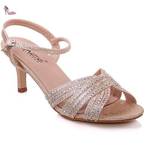 Unze L18303W, Chaussures basses femme - Argent (L18303W), 37 EUUnze