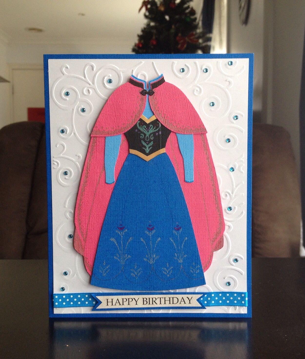 Frozen Theme Birthday Card Princess Anna by Graciekofoed – Themed Birthday Cards