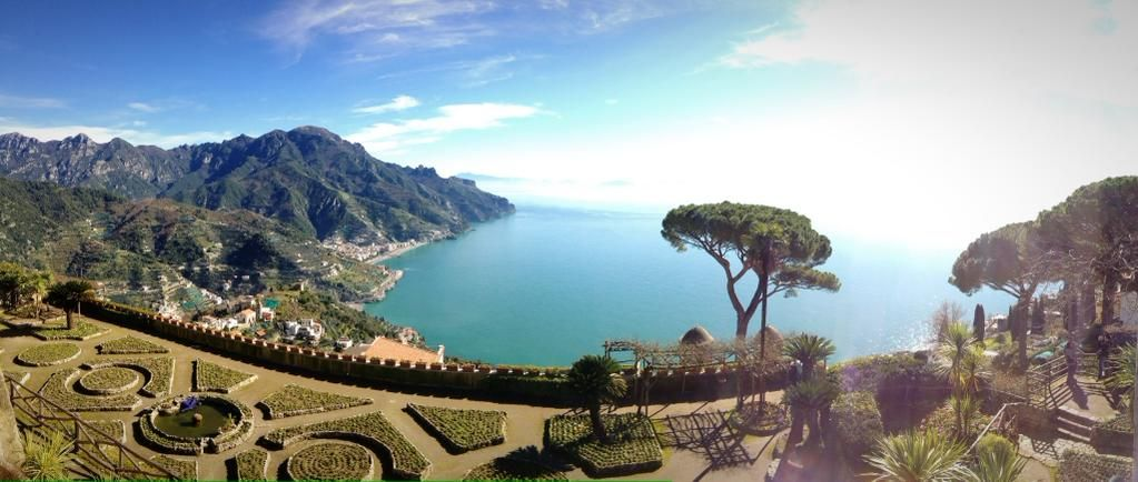 Thanks to its unique setting high above the sea, Ravello commands the greatest panorama over the Amalfi Coast.