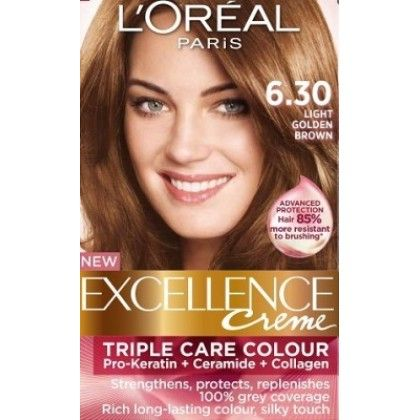 Loreal Excellence Creme 6 30 Light Golden Brown Light Golden Brown Loreal Hair Color Loreal