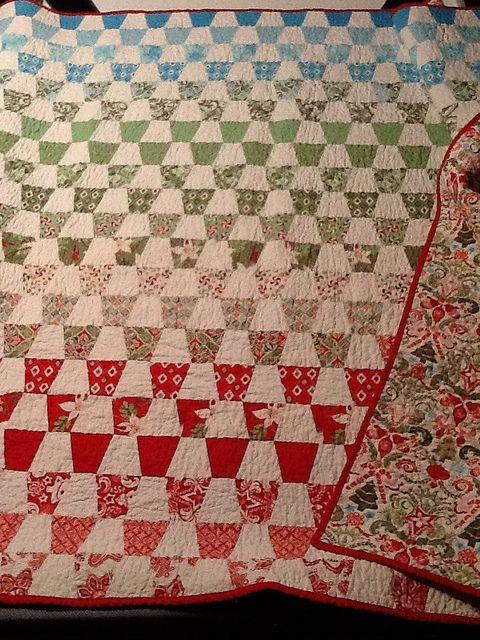 Christmas Tumbler Quilt Fabric: Kate Spain Flurry Pattern: Tumbler ... : flurry quilt pattern - Adamdwight.com