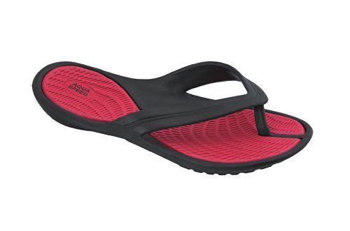 Aqua Speed Damen Badeschuhe Zehentrenner Strandschuhe - sehr leicht Aruba 478-31, rot/schwarz, 35