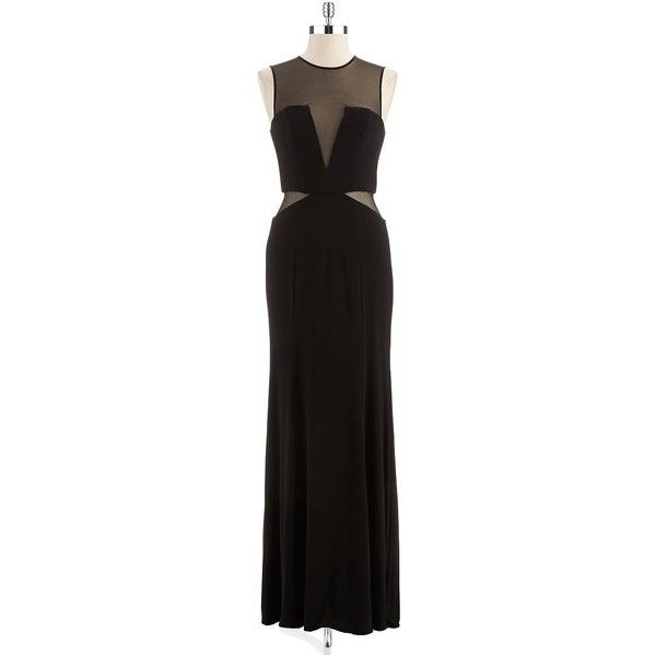 XSCAPE Illusion Cut-Out Gown $189