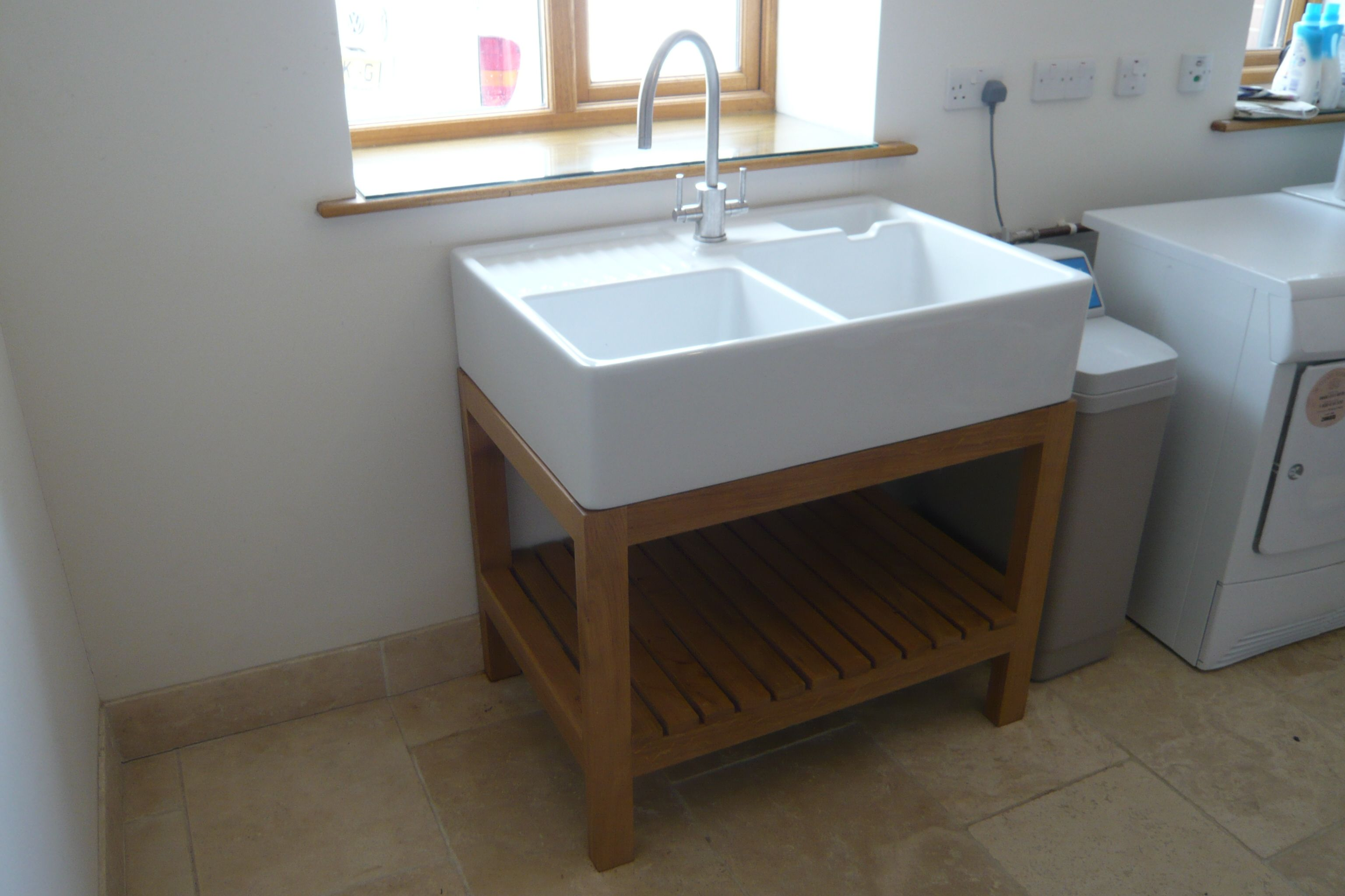 SHAKER STYLE BELFAST SINK KITCHEN UNIT 3\' WIDE COMPLETE W/TOP AND ...