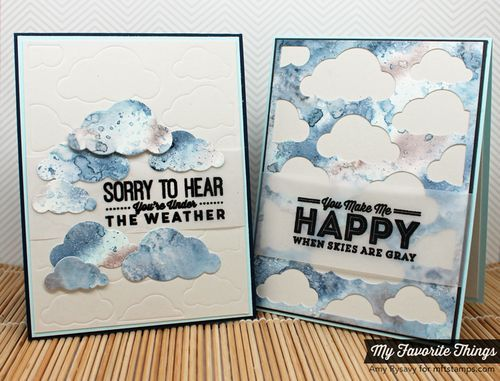 Blue Skied Ahead, Cloud Cover-Up Die-namics - Amy Rysavy #mftstamps