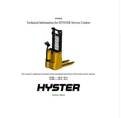 New Hyster Repair Manuals Pdf 2018 For Full Set Version
