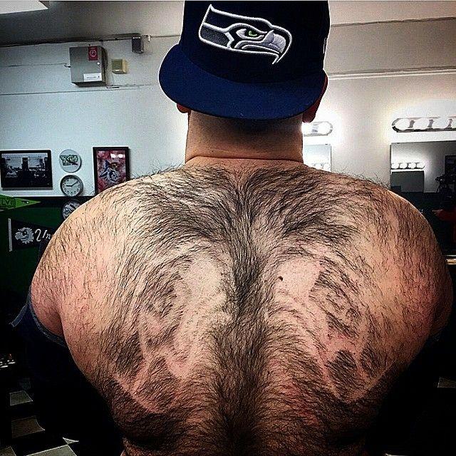 Shaved back picture nascar