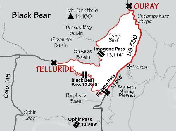 Black Bear Pass Jeep Tour Colorado Pinterest