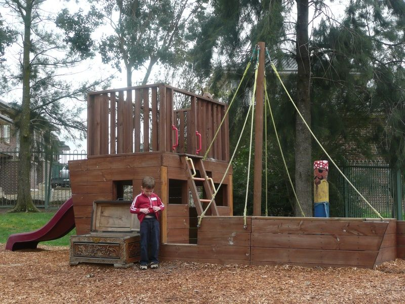 A Pirate Ship With A Treasute Chest Outdoors 2
