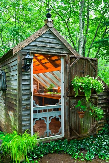 A perfect greenhouse Like something out of a Grimm fairy tale - Potting Shed Designs