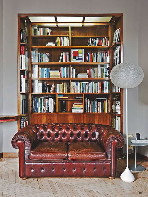 Sofa Beds Leather sofa and bookcase