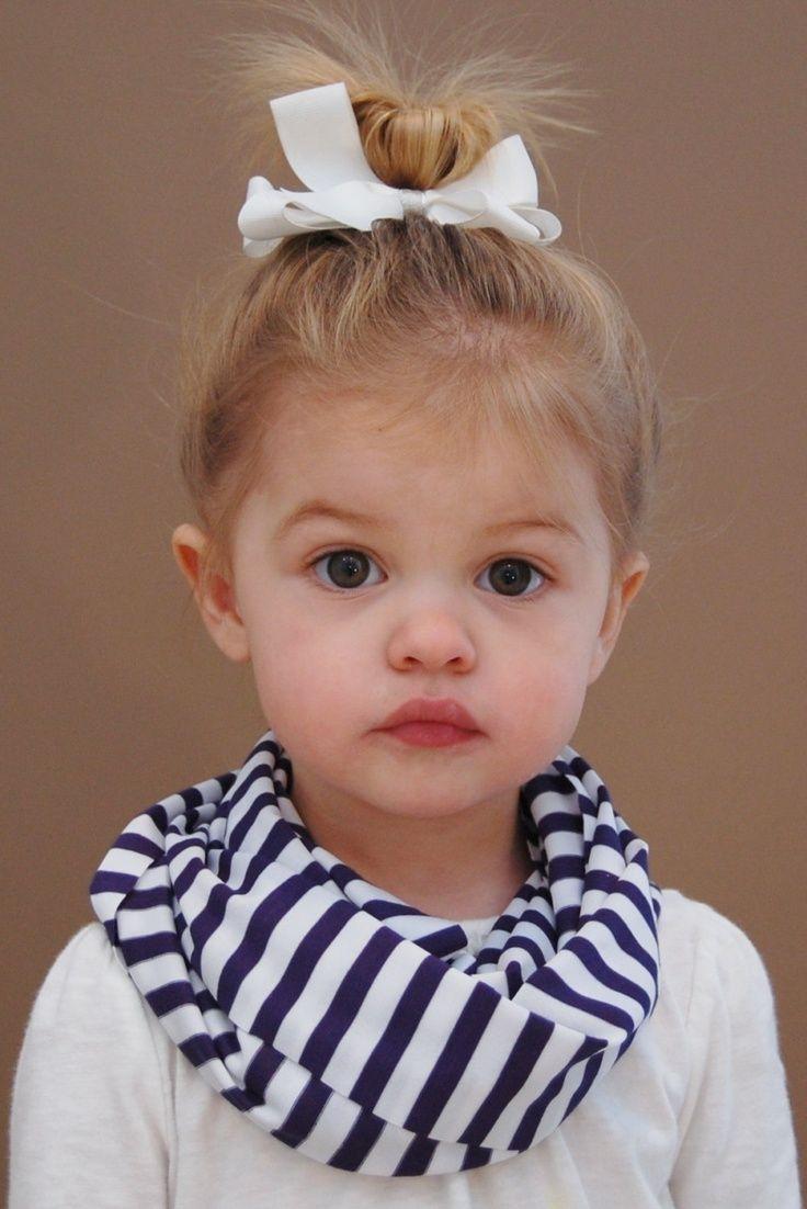 Navy and white striped toddler infinity scarf moda infantil peinados ni os y peinados - Monalisa moda infantil ...