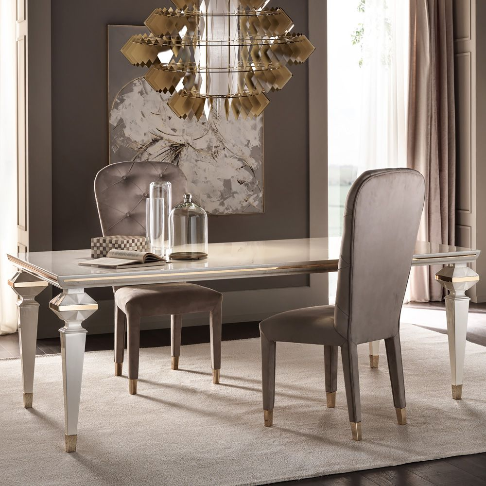 126 Custom Luxury Dining Room Interior Designs: Luxury Italian Designer Rectangular Mother Of Pearl Dining