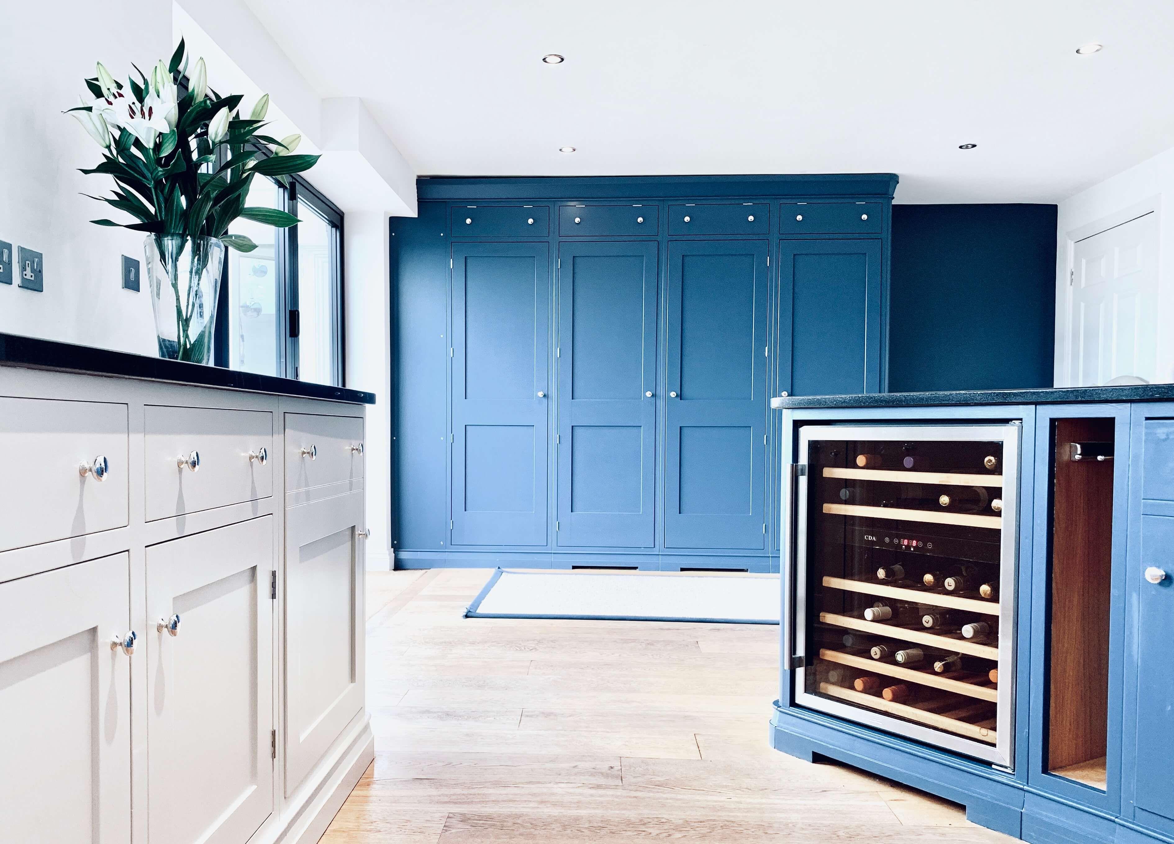 Best Kitchen Larder Cabinets Painted In Farrow Ball Stiffkey 400 x 300