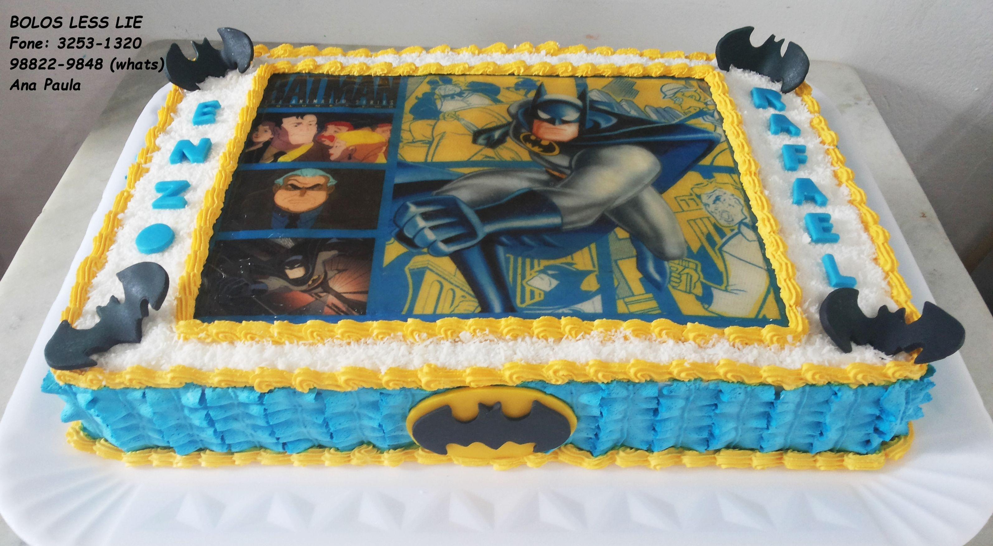 Bolo Do Batman Chantilly Bolo Batman Bolo Bolo De Chantilly