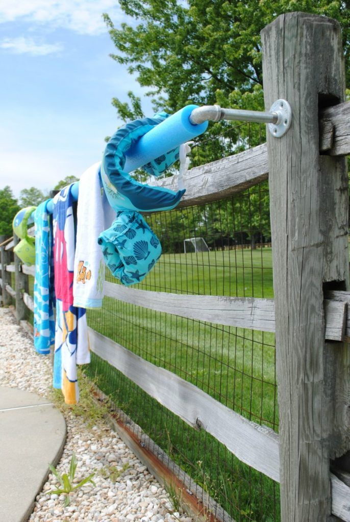 Pool Towel Rack DIY in 30 Minutes. Perfect for Summer