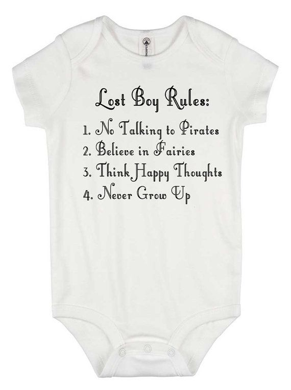 011b82591 Peter Pan onesie - Lost Boy Rules - baby boy gift - baby graphic tees -  disney world shirt - never grow up - pirates shirt - peter and wendy