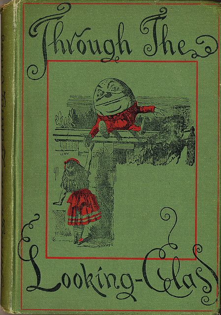 Old Looking Book Cover : Alice through the looking glass bookcover