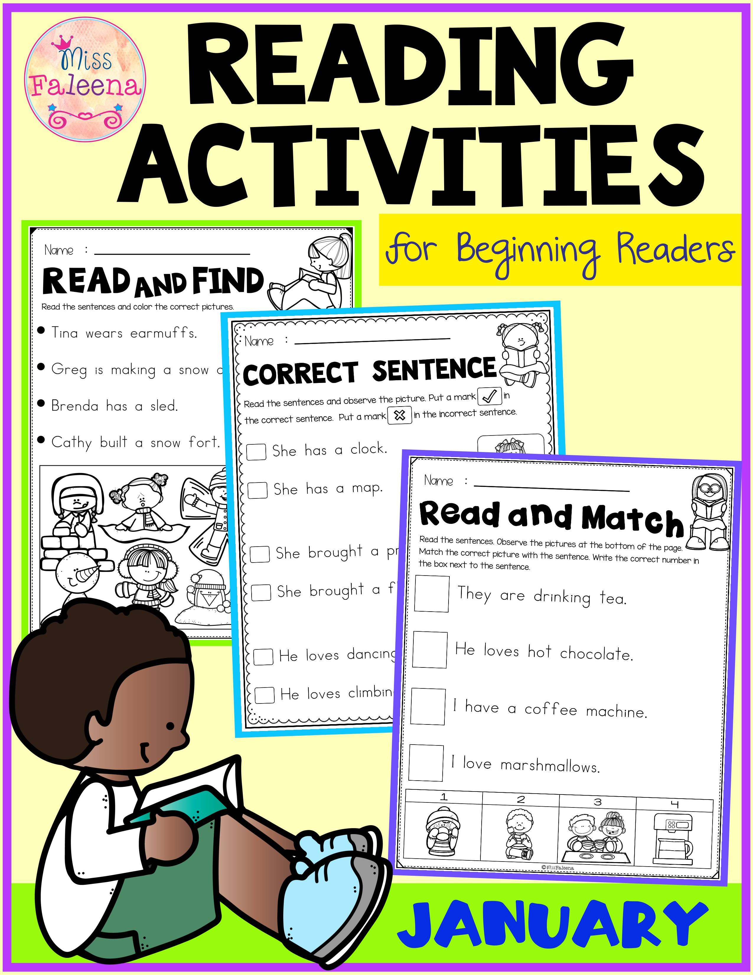 January Reading Activities For Beginning Readers