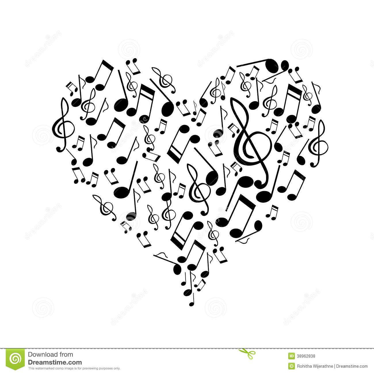 Corazon Con Notas Musicales