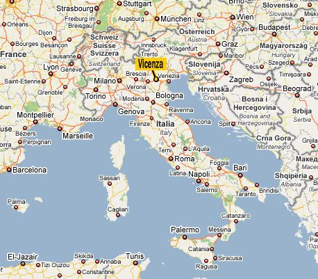 Baby Goes To Vicenza Vicenza Italy Map Vicenza Italy