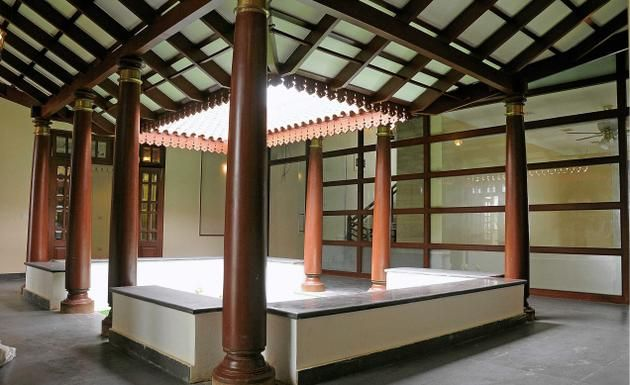 Traditionally modern the open space inside a house is for Indian traditional house plans