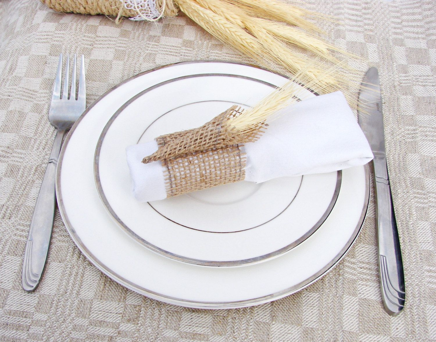 20 Burlap Napkin HolderWedding Napkin RingsRustic Wedding Decor