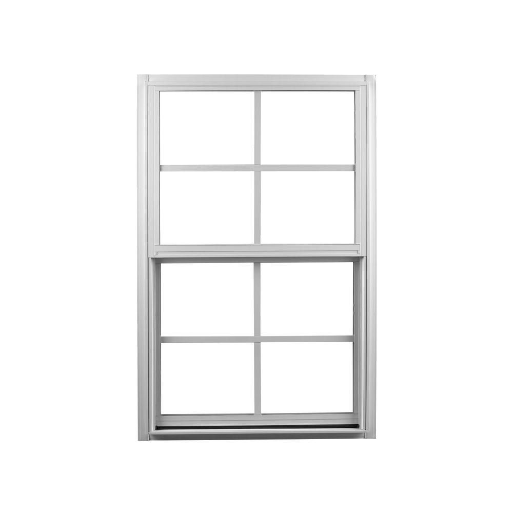 Ply Gem 23 25 In X 35 25 In Single Hung Aluminum Window White