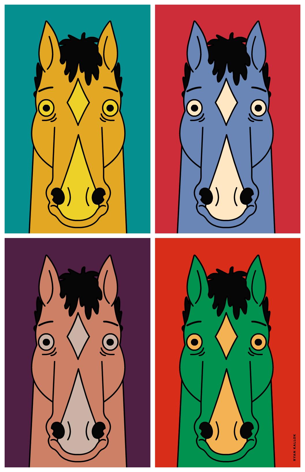 Ryankallok Bojackhorseman Some Bojack Pop Art I Made Tonight Bojack Horseman Horseman Pop Art