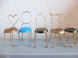 aus blogspot auf Kleine wjansschwester Stühle Kronkorken PZTwikOXu