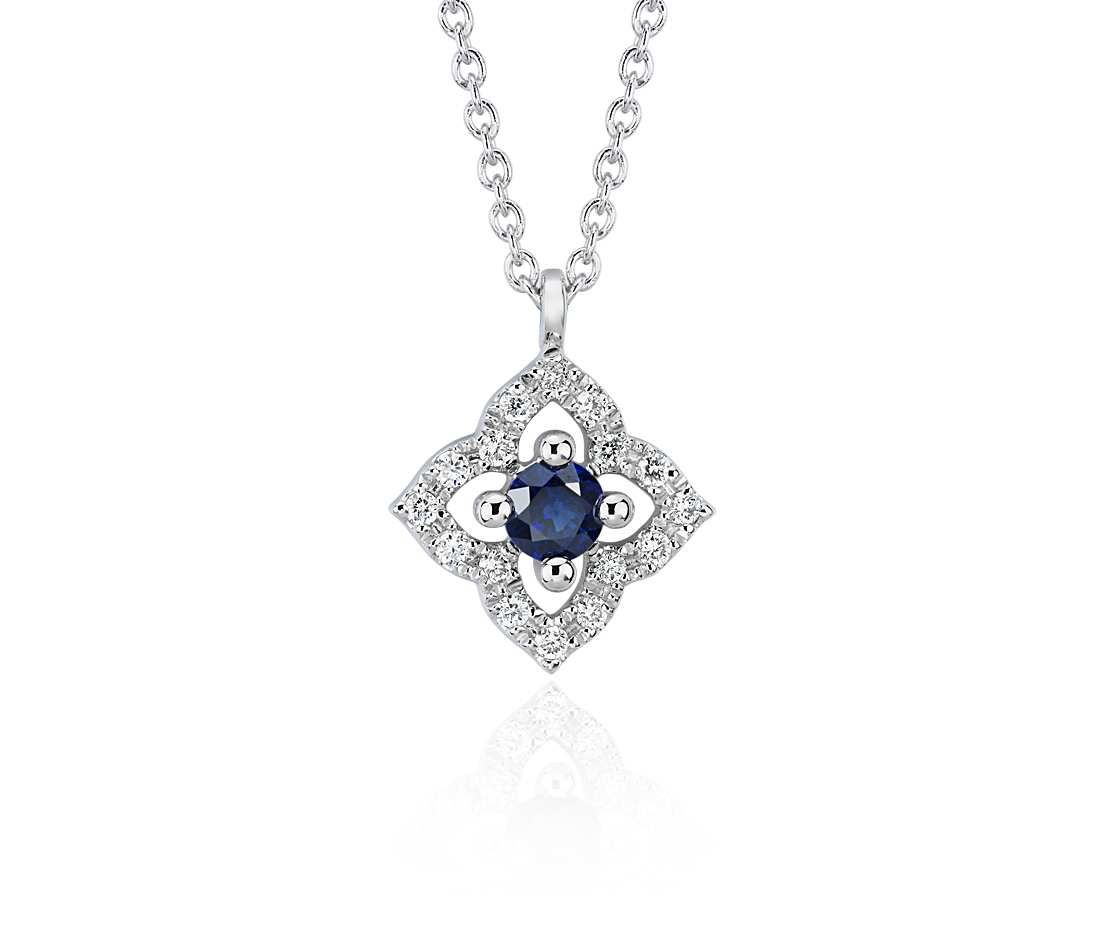 Blue Nile Petite Ruby and Diamond Floral Pendant in 14k Yellow Gold (2.8mm) BM4o6BFp