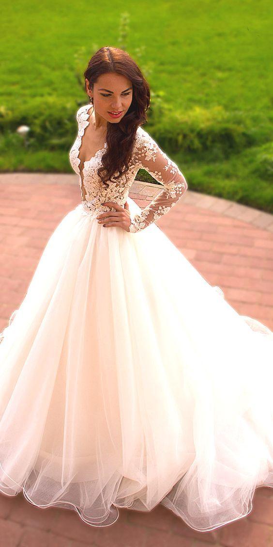 Best  Chic Long Sleeve Wedding Dresses