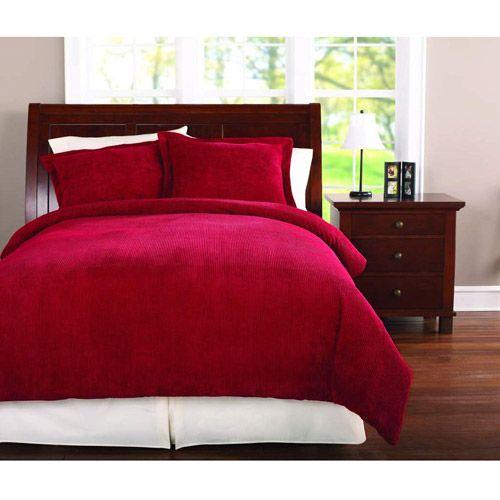 Mainstays comforter set collection broken corduroy comforter and red bedspread - Corduroy bedspreads ...
