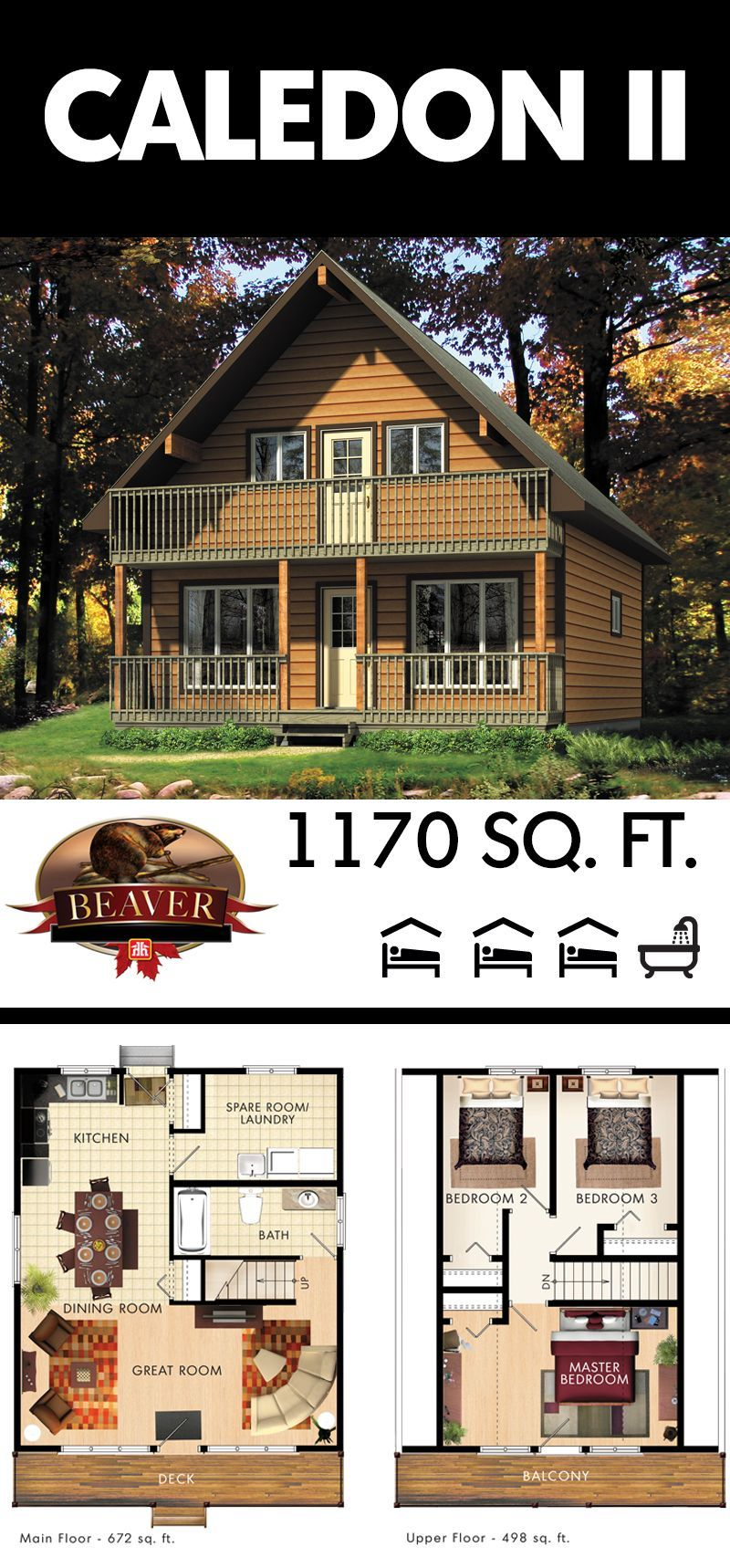 The Caledon Ii Is An Easily Admirable Home At First Glance With The Numerous Windows And Two Story Cove Cottage Floor Plans Cabin House Plans Best House Plans